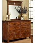 Ayca Dresser w/ Mirror in Cherry Finish Marissa Country AY-21-0608DM