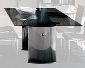 Beatrice Modern Glass Top Dining Table 44DBEAT
