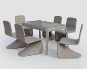 Beatrice Outdoor Patio Grey Finish 7pc Dining Set 44P2072
