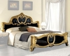 Bed Black Baroque Classic Style Made in Italy 33B432
