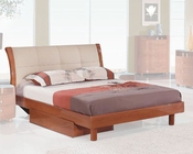 Bed Elena in High Gloss Cherry Finish 35B112