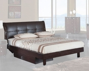 Bed Elena in High Gloss Wenge Finish 35B122