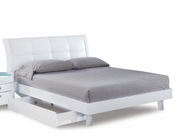 Bed Elena in High Gloss White 35B102