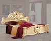 Bed Ivory Baroque Classic Style Made in Italy 33B412