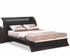 Bed with Modular Glass Headrest Maria 35B42