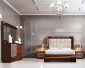Bedroom Set Modern Style in Walnut Carmen 3313CR