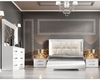 White Bedroom Set in Modern Style Carmen 3313CA