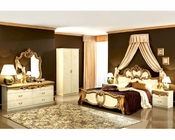 Bedroom Set Gold Baroque Classic Style Made in Italy 33B421