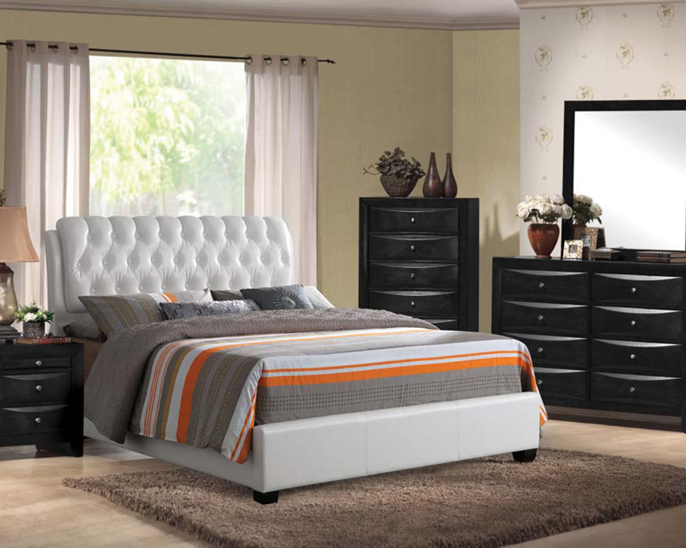 Contemporary Bedroom Set London Black By Acme Furniture: Bedroom Set Ireland White By Acme Furniture AC25350SET
