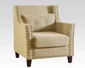 Beige Linen Accent Chair by Acme AC59316
