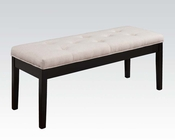 Beige Linen Bench Effie by Acme Furniture AC71542