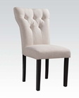 Beige Linen Side Chair Effie by Acme Furniture AC71523 (Set of 2)