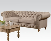 Beige Linen Sofa Shantoria by Acme Furniture AC51305