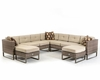 Beige Outdoor Sectional Sofa Set 44P218-SET