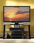 Bello - Black Glass and Metal TV Stand BE-PVS-4208HG