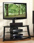 Bello - Black Swivel TV Stand BE-FP-4858HG