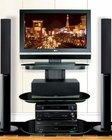 Bello - Metallic Black TV Stand BE-FP-9830