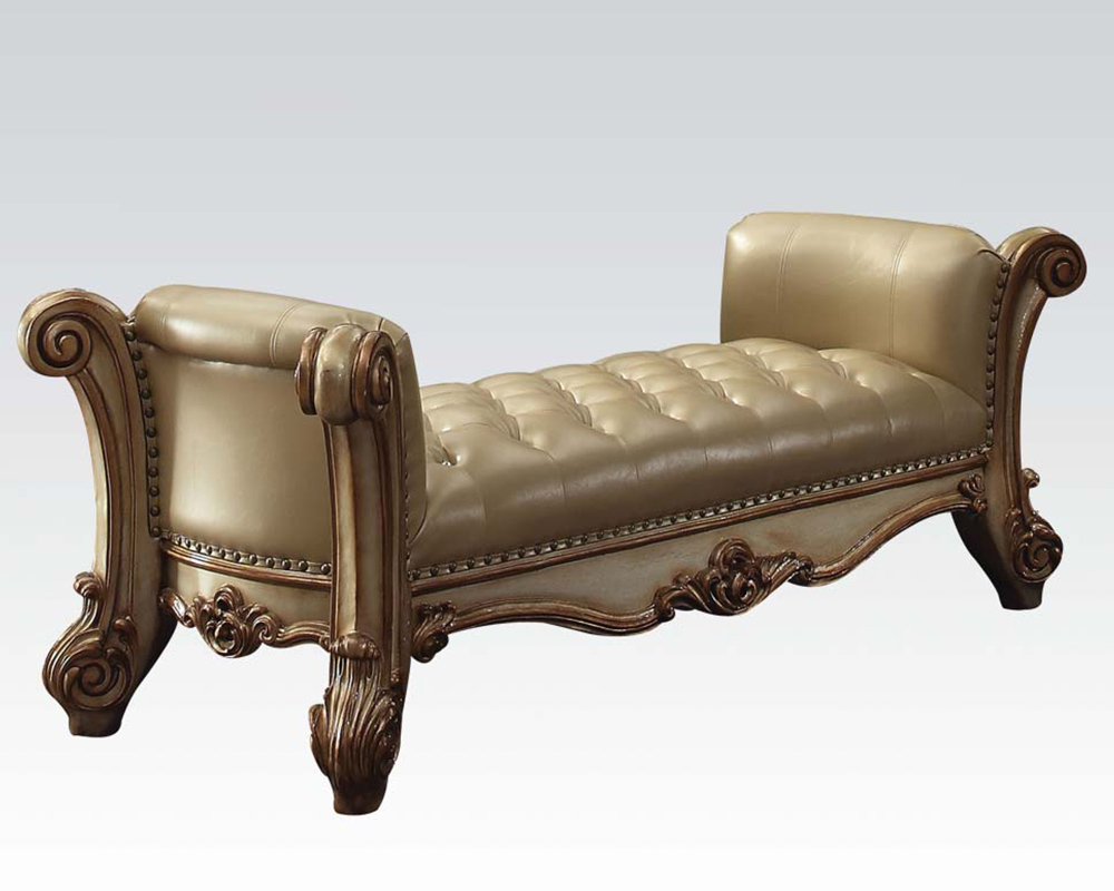bench vendome gold by acme furniture ac96484. Black Bedroom Furniture Sets. Home Design Ideas