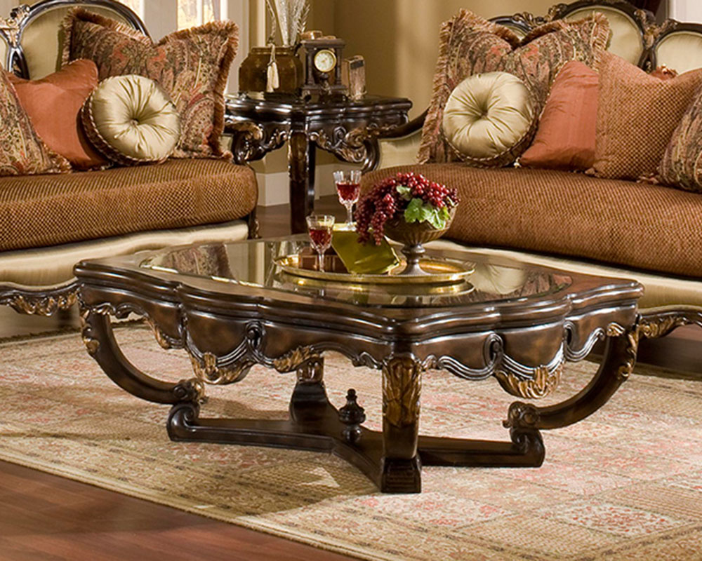 benettis coffee table traditional style abrianna