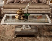 Benetti's Glass Top Cocktail Table BTPE336