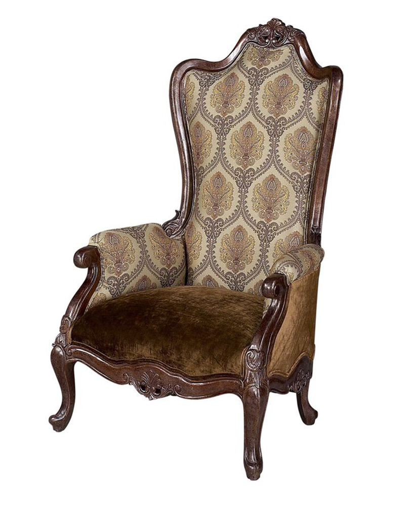 Benetti's Italia Medici High Back/ Curved Accent Chair BTME270