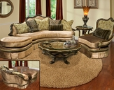 Benetti's Sofa Set in Velvet Fabric Bertina BTBE067SET