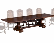 Benetti's Woodtop Dining Table Majorica BTMA260