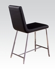Black Counter Height Chair Lenia by Acme Furniture AC71002 (Set of 4)