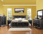 Black Crocodile Bedroom Set Elberte by Acme Furniture AC22790SET