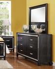 Black Crocodile Dresser w/ Mirror Elberte by Acme Furniture AC22795DM