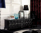 Black Crocodile Lacquer Entertainment Center 44ENT538-180
