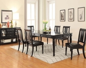 Black Dining Set Caree by Acme Furniture AC71550SET