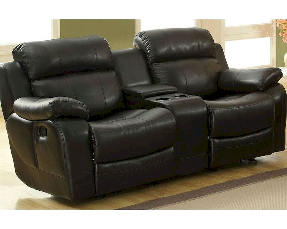 Black Double Glider Reclining Loveseat Marille By Homelegance El 9724blk 2