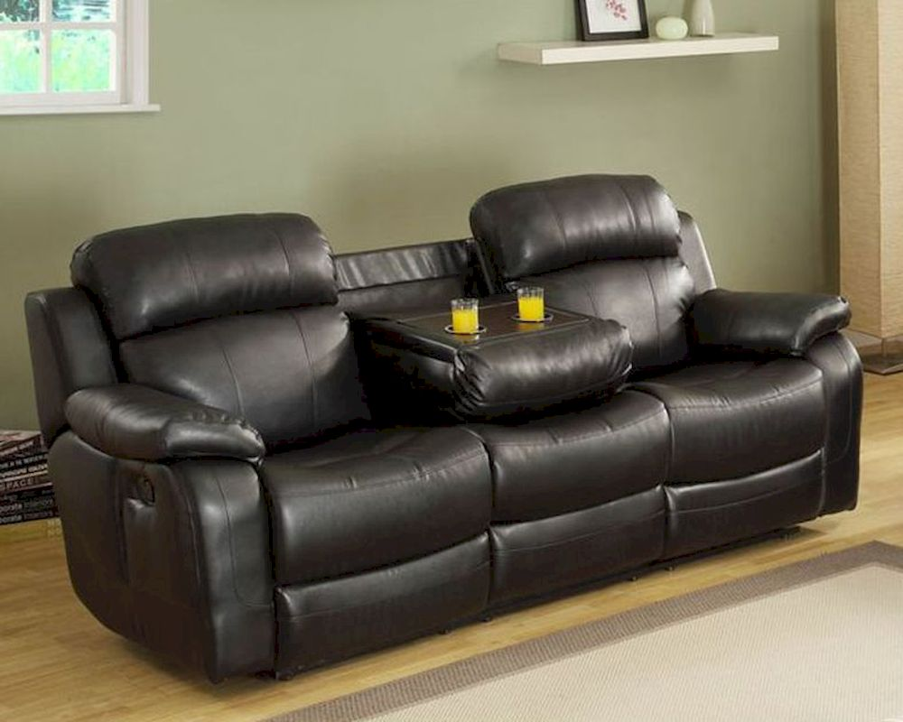 Black Double Reclining Sofa Marille By Homelegance El 9724blk 3