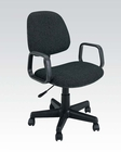 Black Fabric Office Chair by Acme Furniture AC02221BK