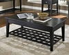 Black Finish Lift-Top Cocktail Table Element by Somerton SO-621-15