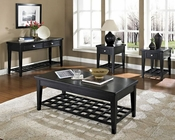 Black Finish Occasional Table Set Element by Somerton SO-621-15SET