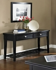 Black Finish Sofa Table Element by Somerton SO-621-05