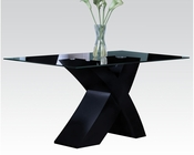 Black Glass Dining Table Pervis by Acme Furniture AC71110