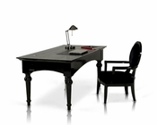 Black Lacquer Office Set in Contemporary Style 44F701-180-SET