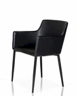Black Leatherette Dining Chair in Modern Style 44D115