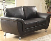 Black Loveseat Chaska by Homelegance EL-8523BLK-2