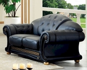 Black Loveseat in Classic Style Versace ESFVEL