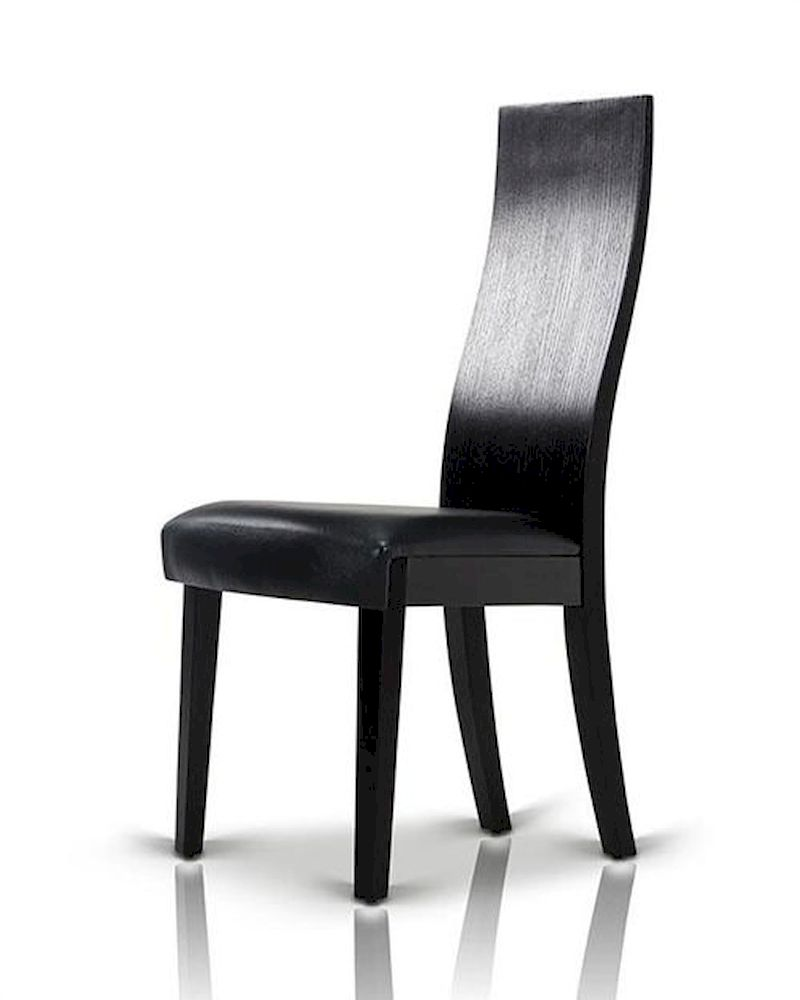 Black oak dining chair in contemporary style 44d616ch set for Modern black dining chairs
