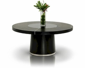Black Oak Dining Table in Contemporary Style 44D850T-2