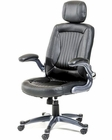 Black Office Chair w/ Headrest in Contemporary Style 44F8506