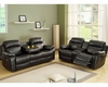 Black Reclining Sofa Set Marille by Homelegance EL-9724BLK-SET