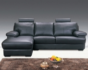 Black Sectional 2pc Sofa Set MF-7005BL