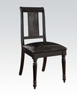 Black Side Chair Caree by Acme Furniture AC71552 (Set of 2)