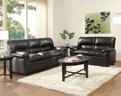 Black Sofa Set Talon by Homelegance EL-8511BK-SET